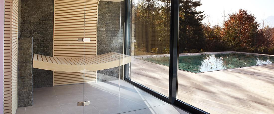 puristische sauna erdmann saunabau exklusiver. Black Bedroom Furniture Sets. Home Design Ideas