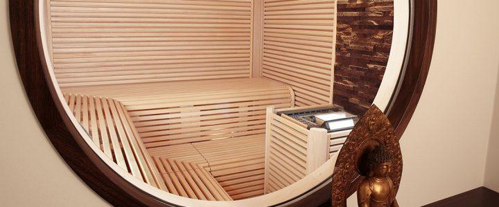 Puristische Sauna mit asiatischem Flair in einem Nürnberger Wohnhaus