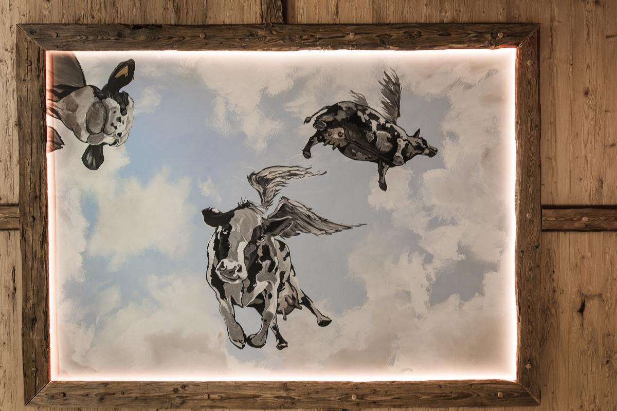 Fliegende Kühe im Ruhestadl